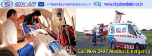 Sky Air Ambulance Service in Patna