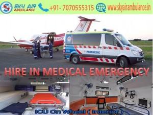 Sky Air Ambulance Service from Guwahati